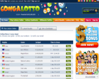 CongaLotto.com screenshort