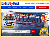 LottoByText.co.uk screenshort