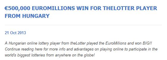 TheLotter winner