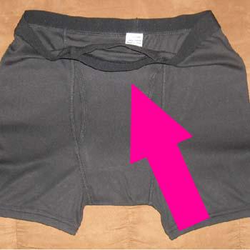 Hiding money in clothing