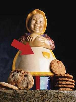 Hiding money in cookie jar