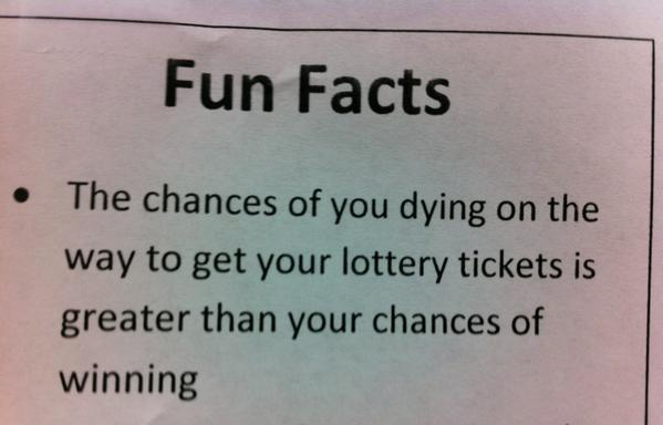 Chances of dying on the way to buy lottery tickets