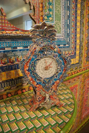 Dream Home made of used lottery tickets