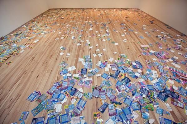 Lottery ticket art - Money Down