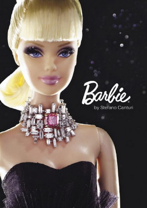 Barbie with a necklace