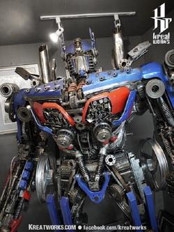 Stainless Steel Optimus Prime Statue