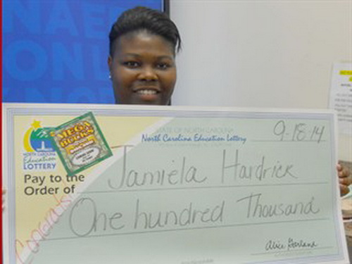 Jamiela Hardrick - the first time lottery player