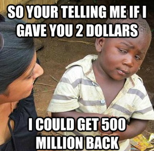 2 dollars lottery meme