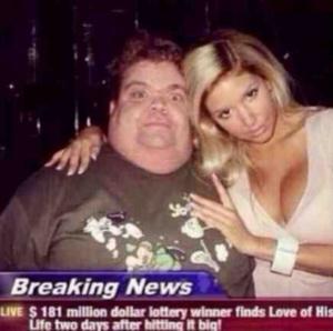 Breaking news lottery meme