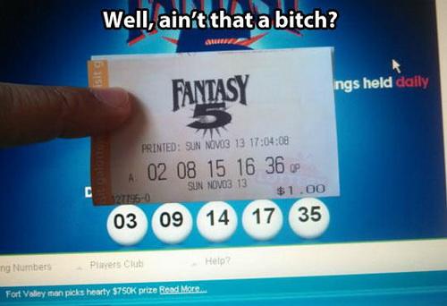 Bitch lottery meme