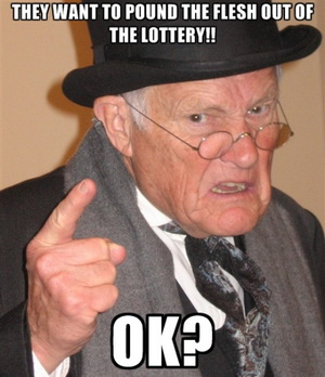 Flesh out lottery meme