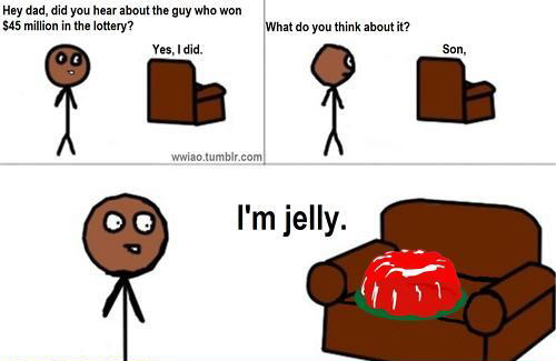 Jelly lottery meme