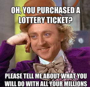 Lottery ticket meme