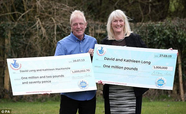 David and Kathleen Long, EuroMillions Winners
