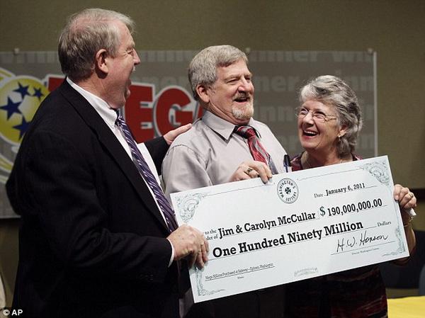 Jim and Carolyn McCullar, Mega Millions Winners