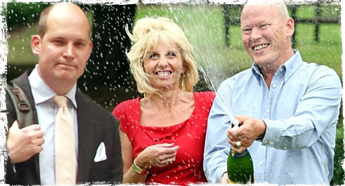 EuroMillions lottery winners and their son