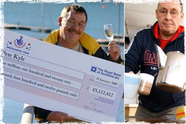 Pete Kyle, former UK lottery winner