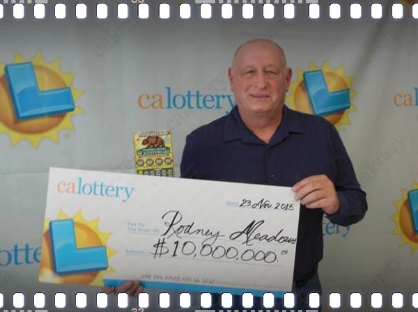 Rodney Meadows, multiple lottery winner