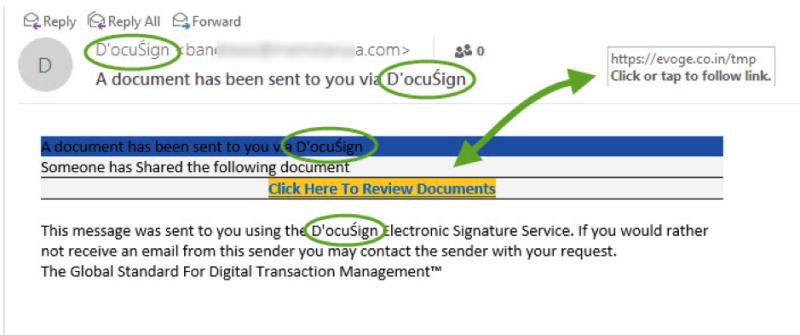 PDF attachment scam